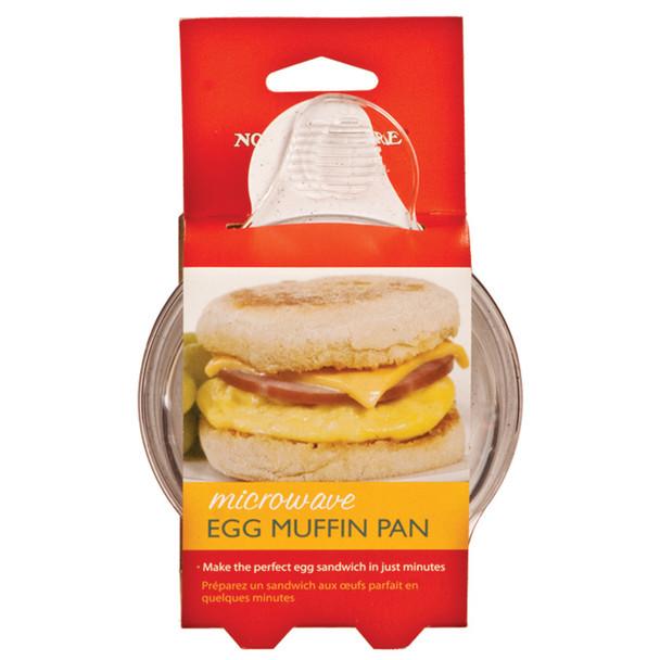 Microwave Egg N Muffin Maker, White - 1 Pkg