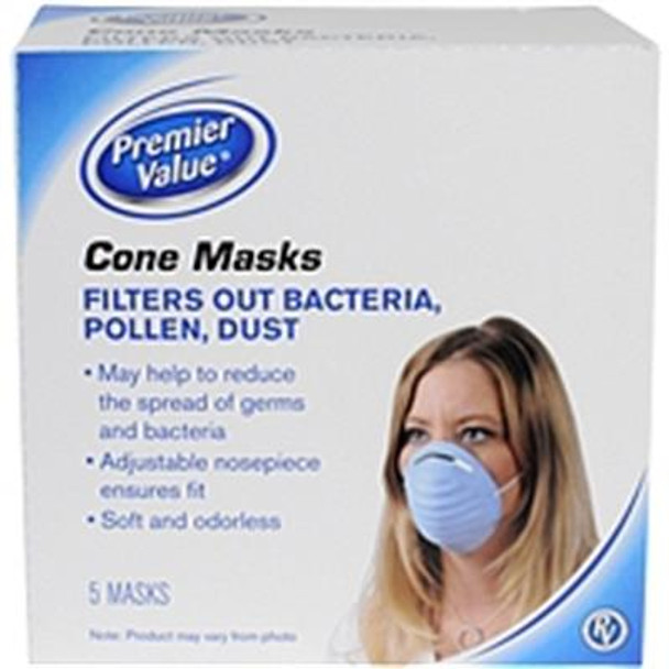 Premier Value Cone Masks - 5 ct