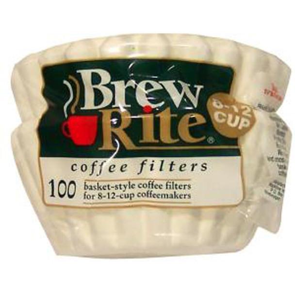 Brew Rite #8 Basket Coffee Filters, 100 Ct - 1 Pkg
