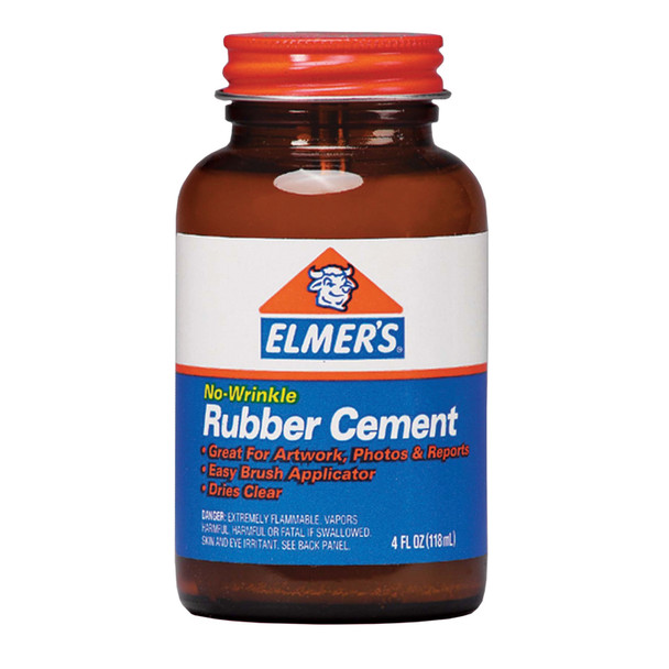 Rubber Cement Glue, 4oz - 1 Pkg