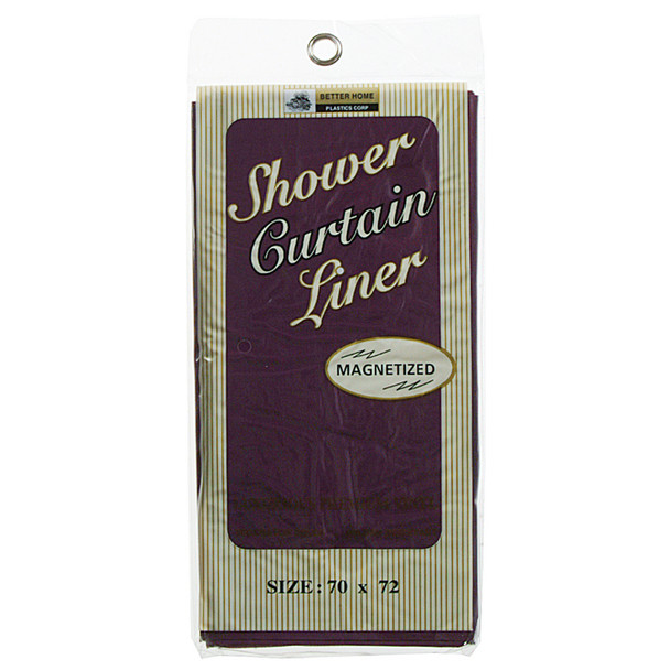 """Vinyl Shower Curtain Burgundy, Burgundy, 70""""X72"""" - 1 Pkg"""