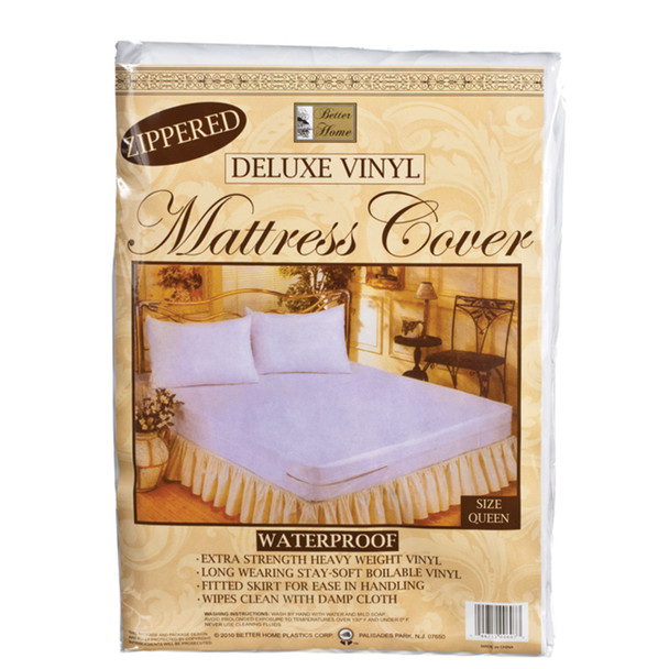 Vinyl Mattress Cover - Zippered Queen, Vinyl, Queen - 1 Pkg