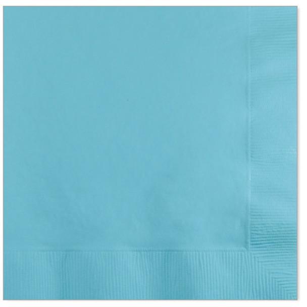 Solid Color Beverage Napkin, Light Blue,   50 Ct - 1 Pkg
