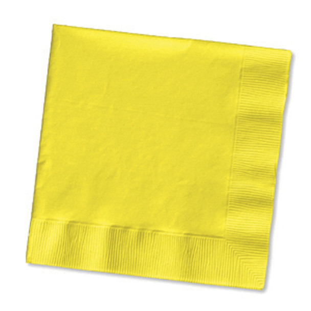 Solid Color Luncheon Napkins, Mimosa, 50 Ct - 1 Pkg