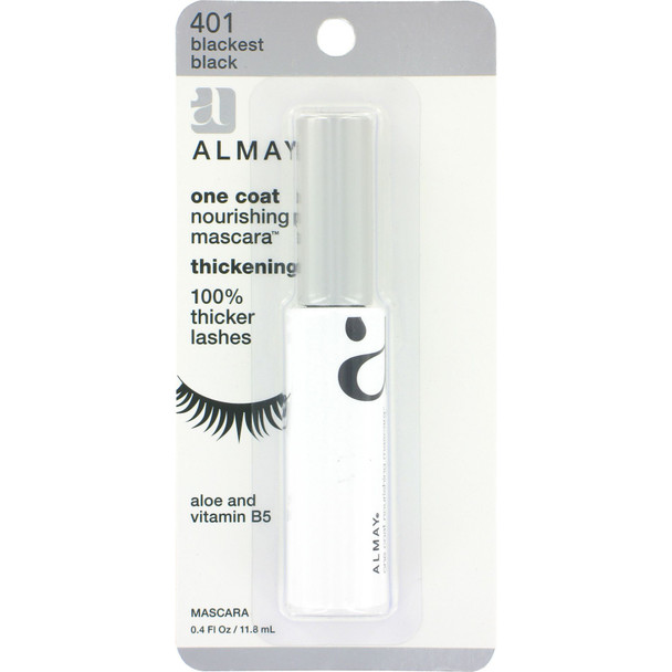 Almay One Coat Thick Mascara, Black/Black - 1 Pkg