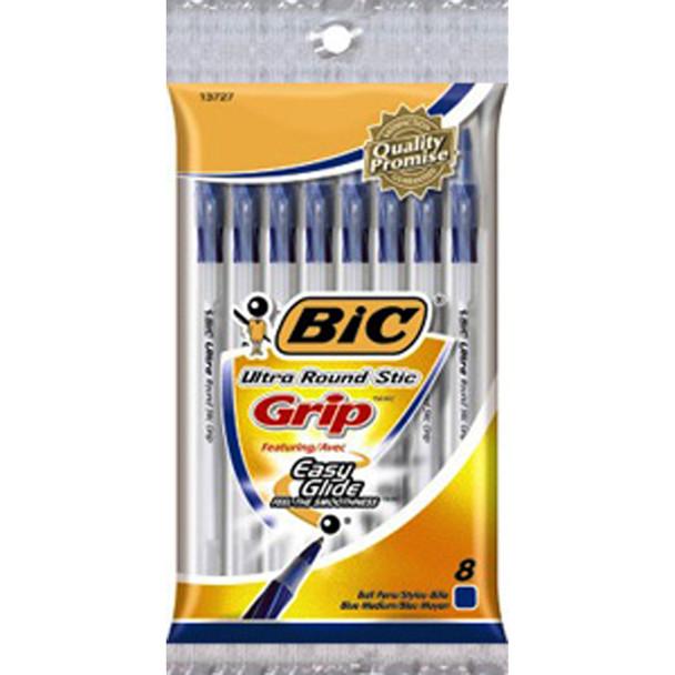 Round Stic Grip Pen, Black, Medium - 1 Pkg