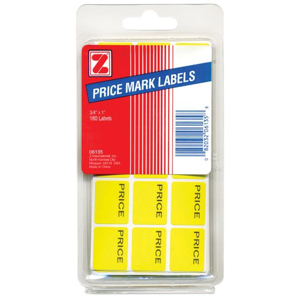 Price Mark Labels, Yellow - 1 Pkg