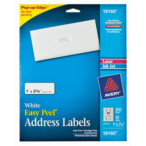 "Mailing Labels, 300Ct. 8 1/2X11"" - 1 Pkg"