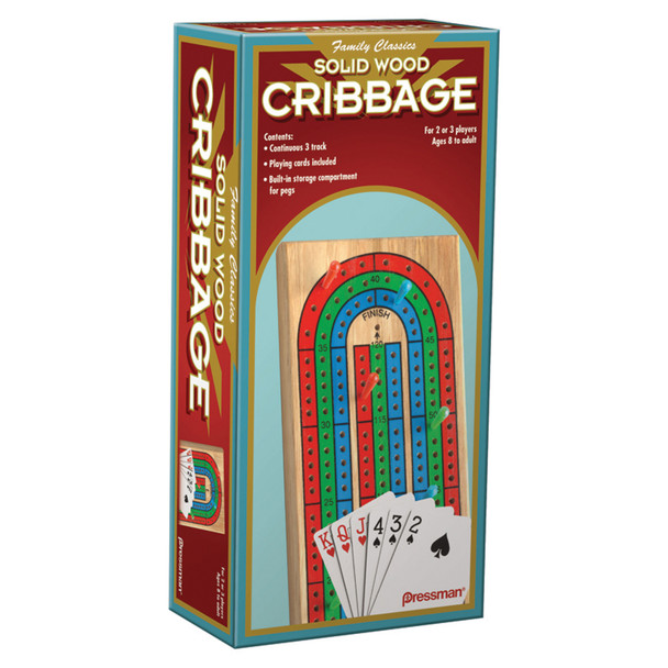 Cribbage Game Board With Cards - 1 Pkg