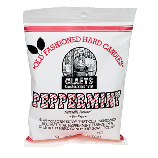 Claeys Hard Candies, Peppermint, 6 oz - Each