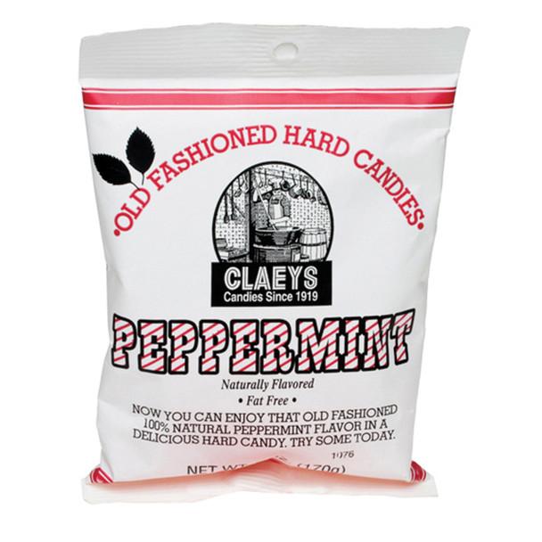 Claeys Hard Candies, Peppermint, 6 oz - Each