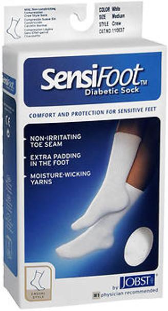 JOBST SensiFoot Crew Socks White Medium - 1 pr