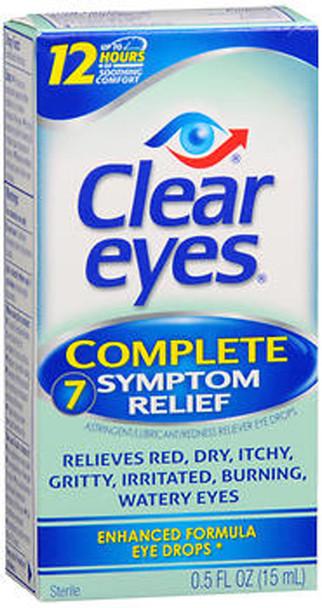 Clear Eyes Complete 7 Symptom Relief Eye Drops - 0.5 fl oz