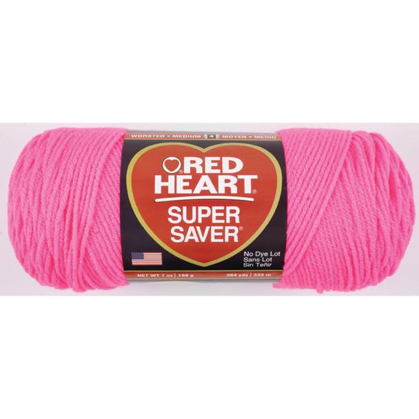 E300 Super Saver Yarn, Pretty-N-Pink, 7 oz - 3 Packs
