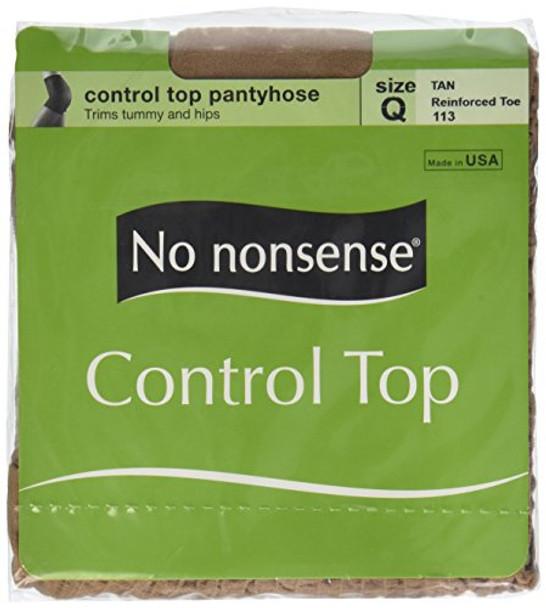 Control Top Panty Hose, Tan, Q1 - 1 pkg