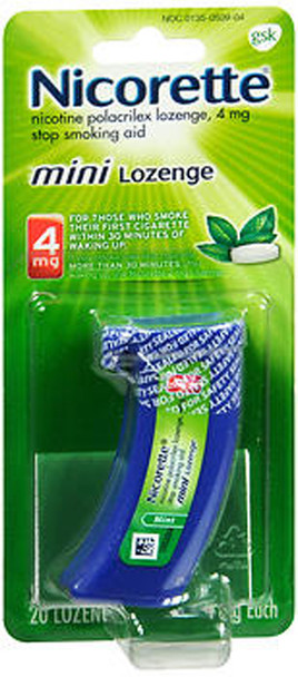 Nicorette Stop Smoking Aid Mini Lozenges 4 mg Mint - 20 ct