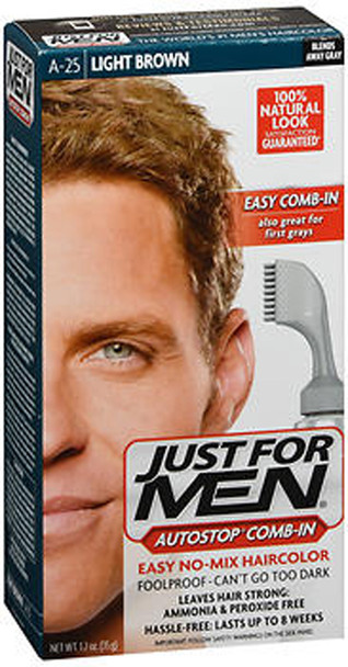 Just For Men Autostop Comb-In Formula A-25 Light Brown