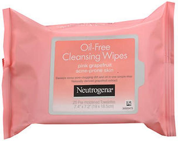 Neutrogena Oil-Free Cleansing Wipes Pink Grapefruit - 25 ct