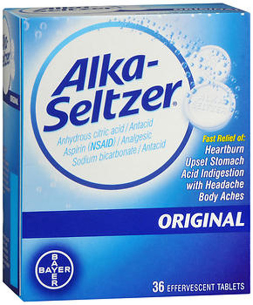 Alka-Seltzer Effervescent Tablets Original - 36 ea.
