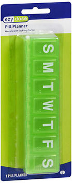 Ezy Dose 7-Day Locking Pill Reminder - 1 ea. #67932