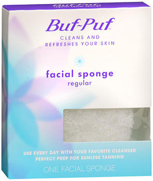 Buf-Puf Facial Sponge, Regular - 1 ea.