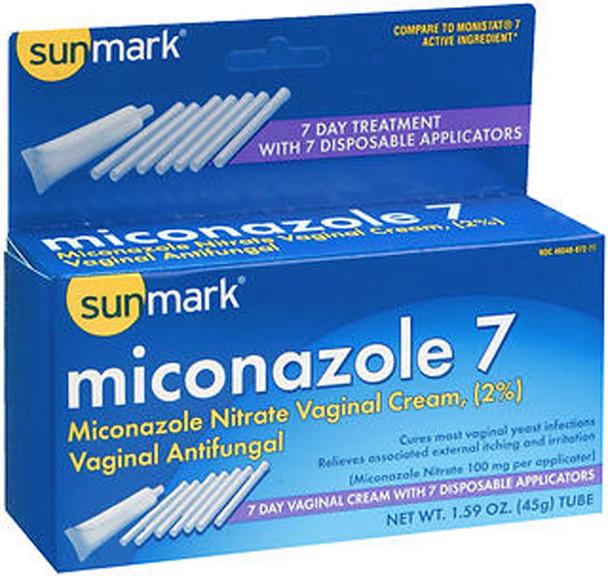 Sunmark Miconazole 7 Vaginal Antifungal Disposable Applicators - 1.59 oz