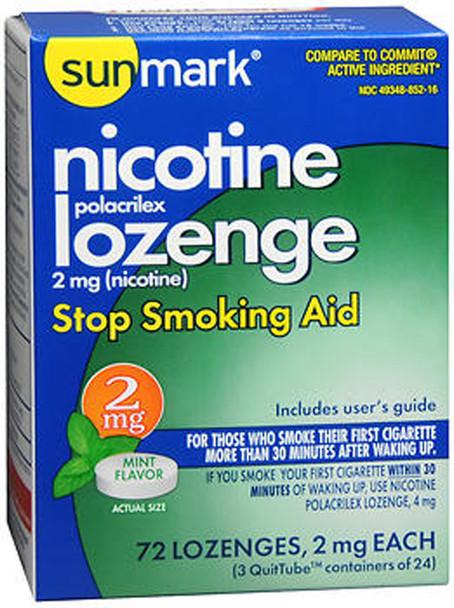 Sunmark Nicotine Polacrilex Lozenge 2 mg Mint - 72 ct