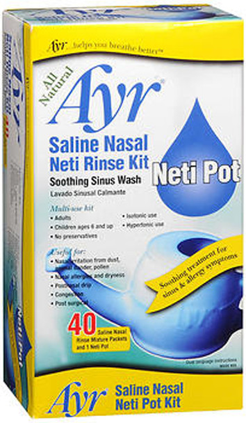 Ayr Saline Nasal Neti Pot Kit - Each