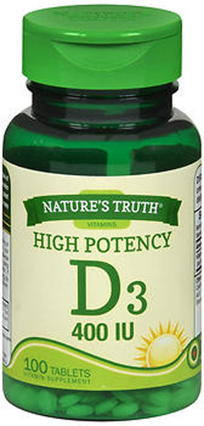 Nature's Truth D3 400 IU Vitamin Supplement - 100 Tablets