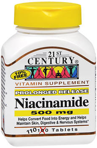 21st Century Niacinamide 500 mg Tablets Prolonged Release - 110 ct