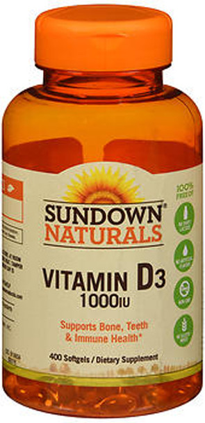 Sundown Naturals Vitamin D3 1000 IU - 400 Softgels