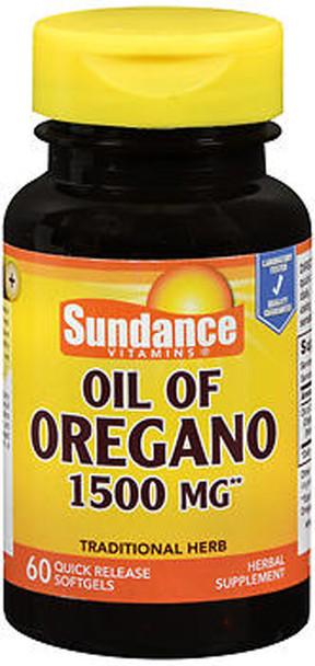 Sundance Vitamins Oil of Oregano 1500 mg Herbal Supplement Quick Release Softgels - 60 ct