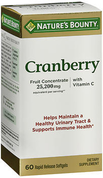 Nature's Bounty Triple Strength Cranberry With Vitamin C  - 60 Softgels