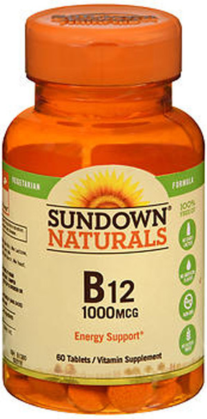 Sundown Naturals B-12 1000 mcg Tablets - 60 ct