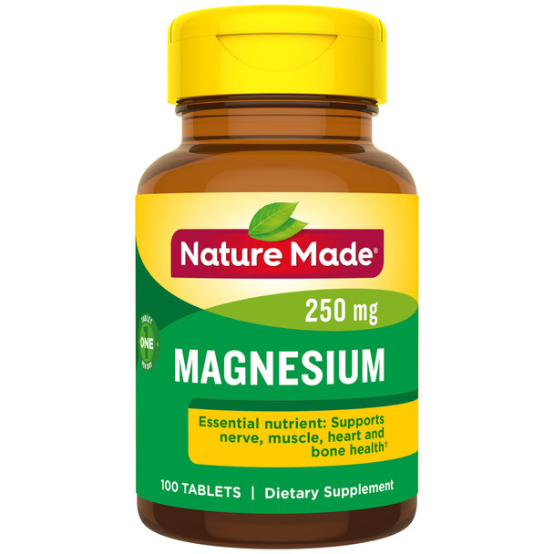 Nature Made Magnesium 250 mg Tablets - 100 ct