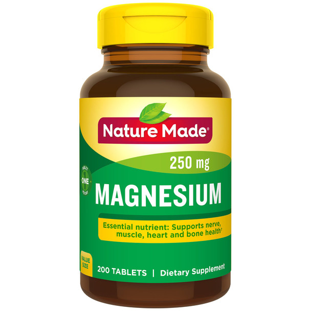 Nature Made Magnesium 250 mg - 200 Tablets