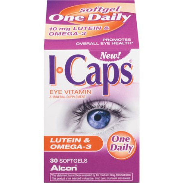 ICAPS Vision Health, Eye Vitamin & Mineral Supplement - 30 Softgels