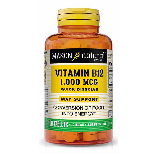 Mason Natural Vitamin B12 1,000 mcg Quick Dissolve Tablets - 100ct