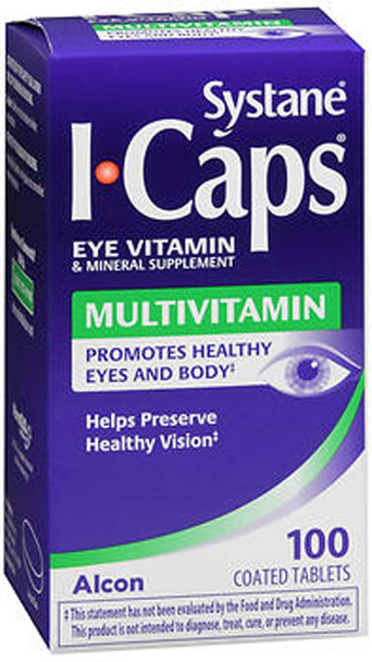 ICaps MV Multivitamin Coated Tablets - 100 ct