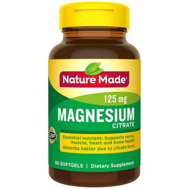 Nature Made Magnesium Citrate - 60 Softgels