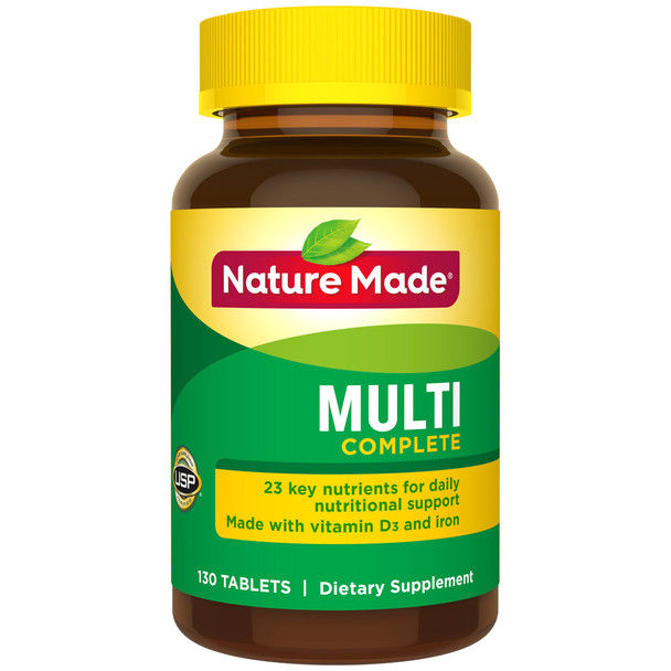 Nature Made Multi Complete Tablets - 130 ct