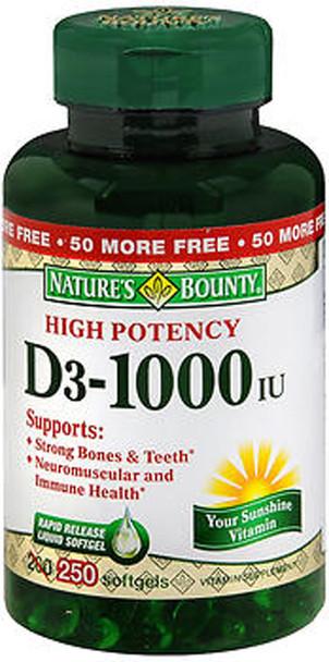 Nature's Bounty D3-1000 IU - 200 Softgels
