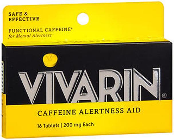 Vivarin Caffeine Alertness Aid Tablets 200 mg - 16 ct
