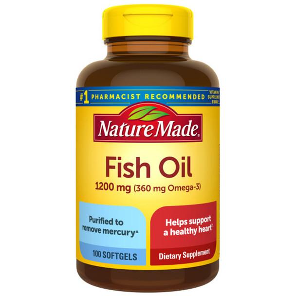 Nature Made Fish Oil 1200 mg Softgels - 100ct