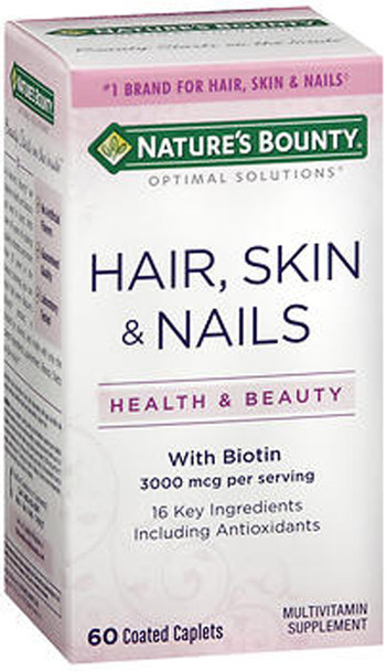 Nature S Bounty Hair Skin And Nails 60 Coated Caplets