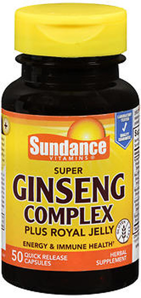 Sundance Vitamins Super Ginseng Complex Plus Royal Jelly Quick Release Capsules - 50 ct