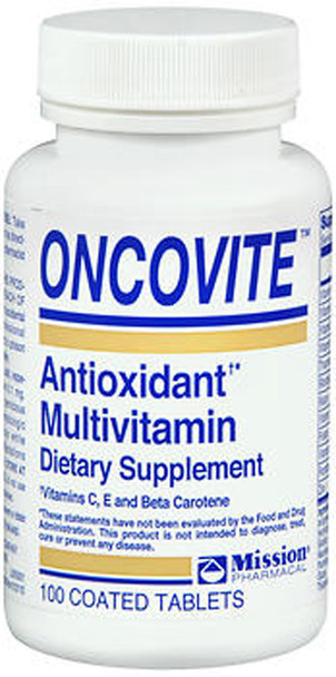 Oncovite Antioxidant Multivitamin Coated Tablets - 100 ct