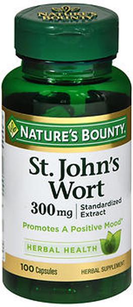 Nature's Bounty St. John's Wort Herbal Supplement 300 mg - 100 Capsules