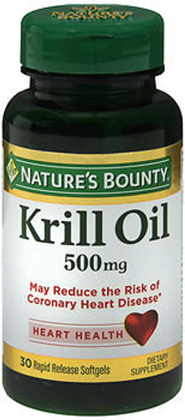 Nature's Bounty Red Krill Oil 500 mg - 30 Softgels