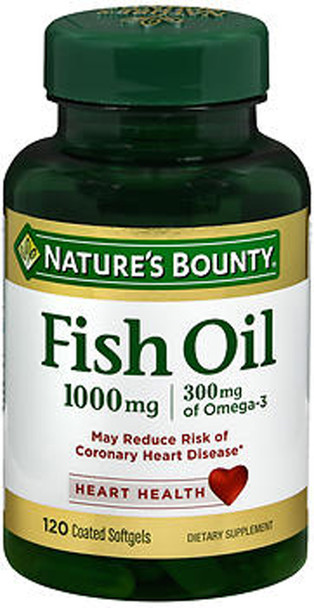 Nature's Bounty Odorless Fish Oil 1000 mg Coated Softgels - 100 ct